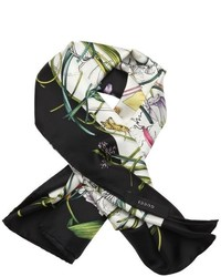 Gucci Lavender And Green Flora Infinity Printed Silk Scarf