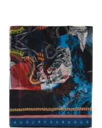 Burberry Multicolor Silk Chiffon Mermaid Print Scarf