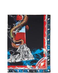 Burberry Multicolor Silk Twill Mermaid Print Scarf