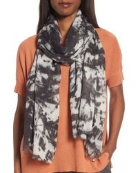 Eileen Fisher Print Silk Wool Scarf