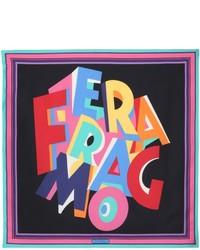 Salvatore Ferragamo Ferragamo Printed Silk Twill Scarf