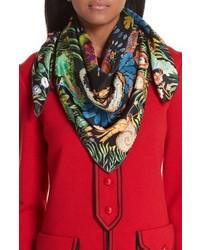 Gucci Tiger Kingsnake Print Silk Twill Scarf
