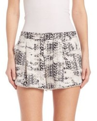 Parker Alexis Printed Silk Shorts