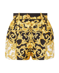 Versace Printed Silk Crepe Shorts