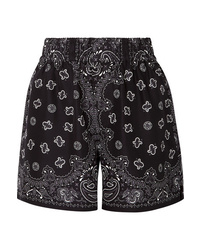 Alexander Wang Printed Silk Satin Shorts
