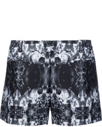 Thomas Wylde Abstract Print Shorts