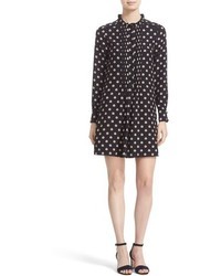 Kate Spade New York Ditzy Floral Print Silk Swing Dress