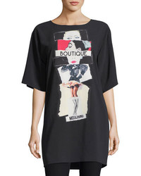 Moschino Boutique Silk Screen Print Oversized T Shirt