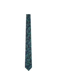 Givenchy Black Seasonal Print Bird Blade Tie