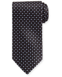 Neat square printed silk tie medium 1124971