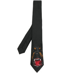 Givenchy Rottweiler Print Tie