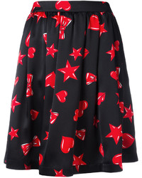 Heart print skater skirt medium 3664749