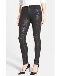 Black Print Skinny Jeans