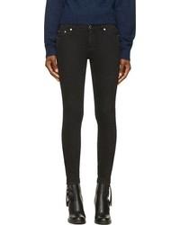 Black faded snakeskin print skinny jeans medium 102324