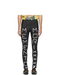 Gucci Black Meto Mori Skinny Jeans