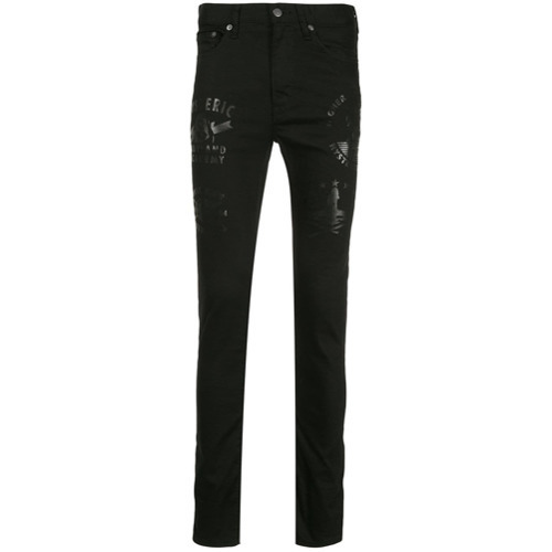 8c3ab1e8e30 ... Black Print Skinny Jeans Hysteric Glamour Classic Skinny Fit Jeans ...