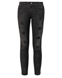 Stella McCartney Polka Dot Print Mid Rise Skinny Jeans