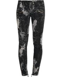 Balmain Printed Low Rise Skinny Jeans