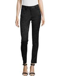 Zac floral print jacquard pants medium 102337