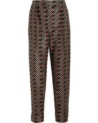 Stella McCartney Franky Printed Satin Pants