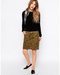 Esprit Flock Print Skirt