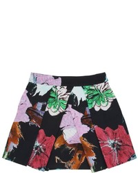 Milly Minis Floral Print Cotton Blend Ottoman Skirt