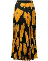 Gucci Poppy Print Midi Skirt