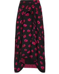 Proenza Schouler Printed Georgette Skirt Black