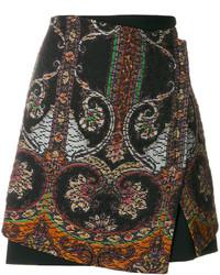 Etro Printed Matelass Skirt