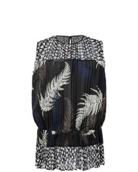 Pleated fern print top medium 7765576