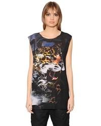 Diesel Wes C Sleeveless Panther Printed T Shirt