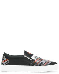 Marcelo Burlon County of Milan Printed Slip On Sneakers