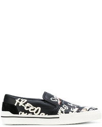 Versace Printed Slip On Sneakers