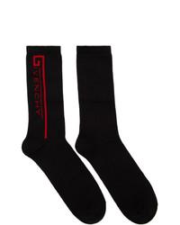 Givenchy Black And Red Logo Socks