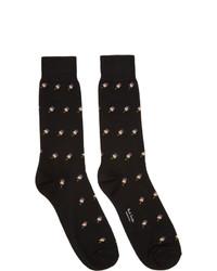 Paul Smith Black Artist Lolly Socks