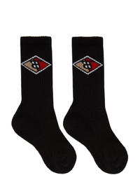 Burberry Black Diamond Logo Socks