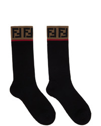 Fendi Black Forever Socks
