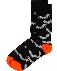 River Island Black Halloween Bat Print Socks