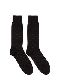 Ermenegildo Zegna Black Iconic Triple X Socks