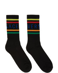Versace Black Logo Socks