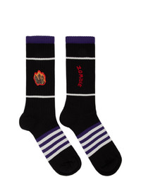 Acne Studios Black Monster In My Pocket Edition Konster Socks