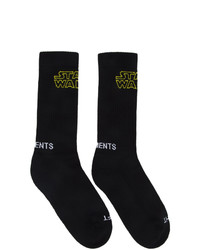 Vetements Black Star Wars Edition Logo Socks
