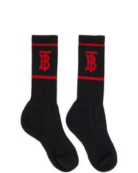 Burberry Black Tb Monogram Socks