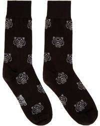 Kenzo Black Tiger Print Socks