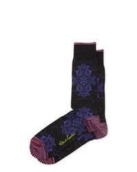 Robert Graham Tanager Graphic Print Socks Black