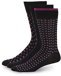 Cole Haan Sunset Hill Printed Socks 3 Pack