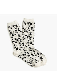 J.Crew Trouser Socks In Cherry Print