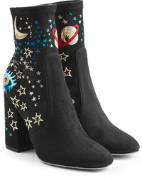 Printed suede ankle boots medium 781929