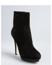 Jimmy Choo Smoked Suede Patent Platform Trait Ankle Boots
