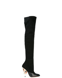 Givenchy Printed Heel Over The Knee Boots